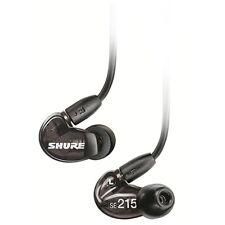 Shure SE215 Single Driver IEM w/Detachable Communication Cable Black - Refurbish