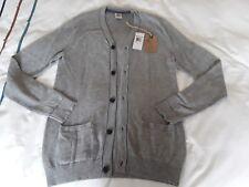 Timberland Mens Wool Cardigan - Size Small  - Grey Marl