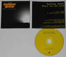 Matthew Sweet  Where You Get Love  1997 U.S. promo cd  hard-to-find