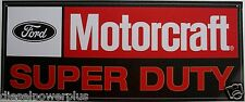 Tin Metal Sign Ford Motorcraft Super Duty Powerstroke pickup truck diesel gear