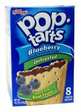 Kelloggs Pop-Tarts Blueberry Unfrosted (Blaubeere) USA Import  416g