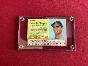 "1962, Sandy Koufax, ""POST""  Card  (Scarce / Vintage) Dodgers"