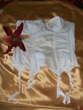 Gossard 779 white underwired boned strapless suspender bridal basque 34A