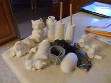 """Lot of 14 Accessories for 14""""GRANDMA & GRANDPA coons,dogs,churns,bucket,pipe,etc"""