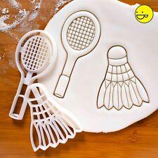 Badminton Racket & Shuttlecock cookie cutters   racquet sports game coach snacks