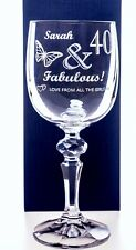 Personalised BIRTHDAY FABULOUS Mirelle Wine Glass Gift For Girls/18th/21st/30th
