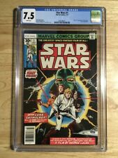 STAR WARS #1 - CGC 7.5 VF- 1977 - Marvel Comics 1st Print - White Pages