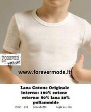 3 Maglie da bambino Liabel manica corta a girocollo in lana cotone art 5321-23R