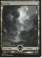 5X SWAMP FULL ART basic land- Battle for Zendikar -MTG - Magic the Gathering