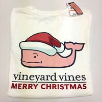 NWT Vineyard Vines t shirt merry christmas santa whale size women's small
