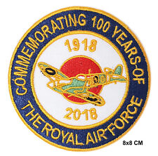 Royal Air Force 100 Years RAF 1918-2018 Target Roundel Bullseye Spitfire Patch