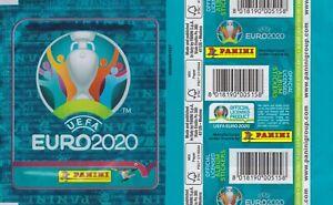 Panini Euro 2020 NO PREVIEW - 1 x RARE VERTICAL packet / pochette / bustine
