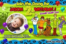 SCOOBY DOO BIRTHDAY PARTY INVITATION PHOTO CUSTOM 1ST - 6 NEW DESIGNS !!