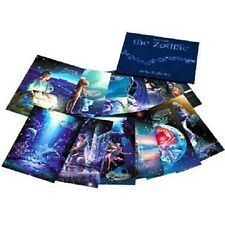 "KAGAYA Art Postcard Set of 12 "" The Zodiac "" Brand NEW Digital Fine Free Ship"
