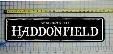 "WELCOME TO HADDONFIELD (Michael Myers / Halloween) 6""x24"" ALUMINUM SIGN"