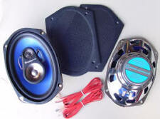 "200 Watt, 3-Way 6""x9"" Rear Speakers with Retro Black grills, Custom Autosound *a"