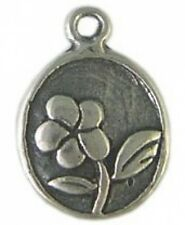 DH54 - 1 Bali Sterling Silver 2-sided Flower Charm