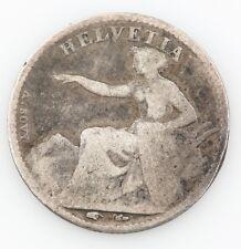 1851 SWISS 1/2 HALF FRANC SWITZERLAND FINE FOREIGN COIN