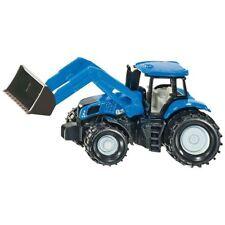 Modellini statici di mezzi agricoli trattori in plastica blu