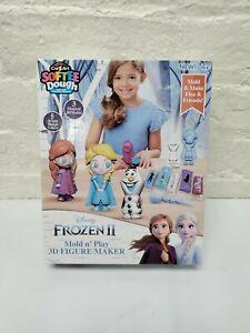 Frozen II Mold Play 3D Figure Maker Create Softee Dough Cra Z Art Anna Elsa Toy