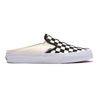 New Vans Classic Slip-On Mule Checkerboard Black/White Sneakers Shoes 2019