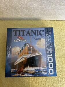 Titanic Jigsaw Puzzle 1000 Pieces White Star Line Royal Steamer Ship Eurographic
