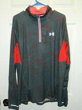 """Under Armour"" Heat Gear Men's Sz L Fitted ""Running"" Half Zip in Excellent Con"