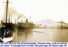 Michigan City Indiana Historical Photo Slide Show data dvd