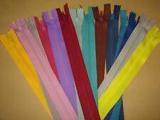 Nylon-Reissverschlüsse -14 Farben- jeder 20cm lang