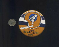 vintage Oakland Invaders USFL football  button pinback badge