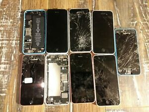 READ*LOT OF APPLE IPHONE 5C A1532 8/16/32GB CELL PHONE FIDO ROGERS BELL TELUS+++