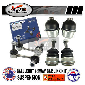 For Ford Falcon AU/BA/BF Front Upper Lower Ball Joint &Sway Bar Link Stabiliers