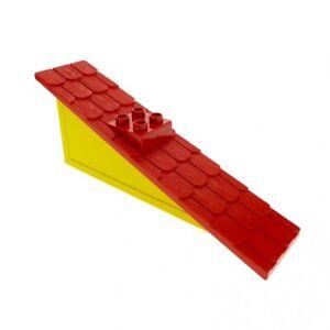 1x Lego Duplo Dach gelb rot 22.5° 1x11x4 schmal gross Schornstein 9152 4896c01