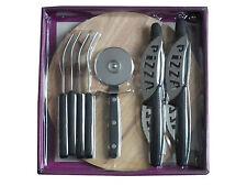 10 Piece Pizza Set Cutter Forks Knives Board Slicer Kitchen FREE POSTAGE