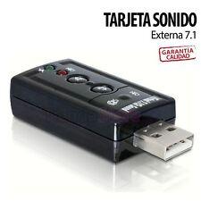 TARJETA DE SONIDO EXTERNA USB 7.1 CANALES ADAPTADOR 3D AUDIO VIRTUAL SOUND PC