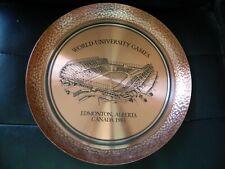 Edmonton's Commonwealth Stadium Copper plate Eskimos home by Fantasy Copperware