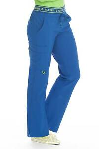 """Med Couture Women's 8758 """"Flow"""" Elastic Waist Cargo Scrub Pant -NEW-FREE SHIP"""