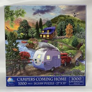 SUNSOUT CAMPERS COMING HOME 1000 PC JIGSAW PUZZLE  - Oversize Pieces
