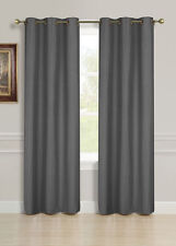 "2 PANELS GROMMET SILK WINDOW CURTAINS DRAPE FOAM LINED BLACKOUT THERMAL 84"" K32"