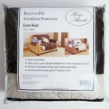 Reversible Quilted Furniture Cover Loveseat Chocolate/Tan