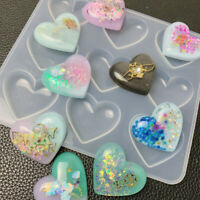 Practical Transparent Heart-Shaped Silicone Handmade Soap DIY Cake Jewelry Mould