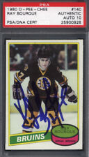 1980 OPC O-Pee-Chee #140 Ray Bourque Rookie HOF Signed Auto PSA/DNA 10