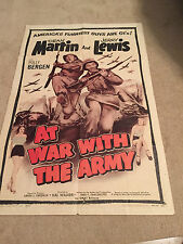 AT WAR WITH THE ARMY ONE SHEET ORIGINAL VINTAGE POSTER JERRY LEWIS DEAN MARTIN