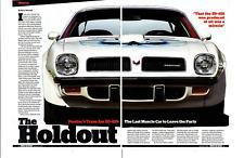 1974 PONTIAC FIREBIRD TRANS AM SD-455 ~ NICE 5-PAGE ARTICLE / AD