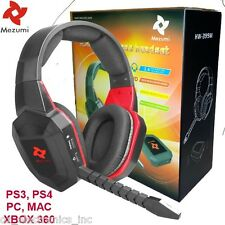 Universal Wireless Gaming Stereo Headset - PS3 PS4 XBOX 360 PC NEW AUSTRALIA