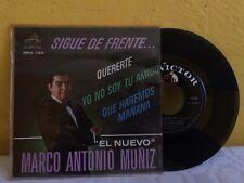 """MARCO ANTONIO MUÑIZ SIGUE DE FRENTE... MEXICAN 7"""" EP PS POP EN ESPAÑOL"""