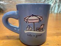 Life is Good Beach Umbrella Picnic Chair Mug Coffee Tea Cup Ceramic
