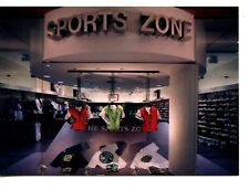 Sports Zone Athletic Shoes Clothing Store-Modern Advertising Rack Postcard