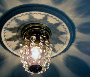 VINTAGE CRYSTAL MINI LIGHT FIXTURE BY LUMINAIRE