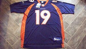 AWESOME! Denver Broncos JERRY RICE Replica Football Jersey XXL Reebok NWT!